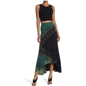 Go Couture Tie Dye High/Low Maxi Skirt